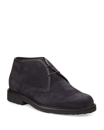 Suede Chukka Boots  Navy