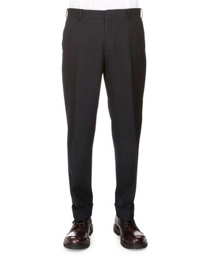 Philip Regular-Fit Trousers, Black