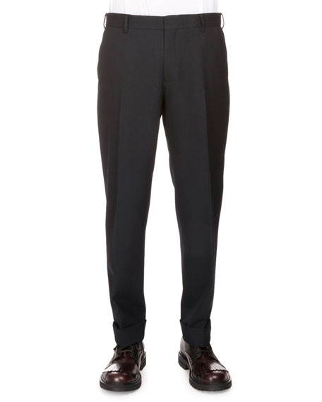 Philip Regular-Fit Trousers, Black