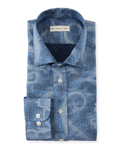 Men's Embroidered Gingham Shirt