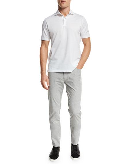 Melange Five-Pocket Jeans, Silver Gray