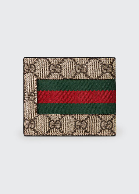 878986105c4e49 Gucci Web GG Supreme Canvas Wallet