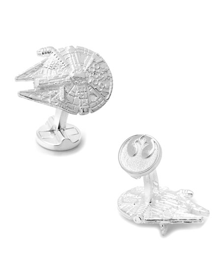 Cufflinks Inc. Star Wars Millennium Falcon Sterling Silver