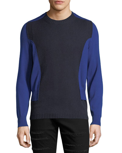 Bicolor Spliced Sweater