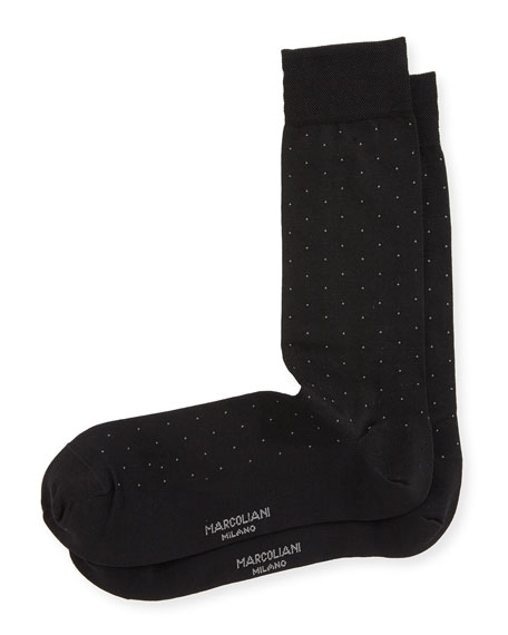 Marcoliani Dot-Print Cotton Socks