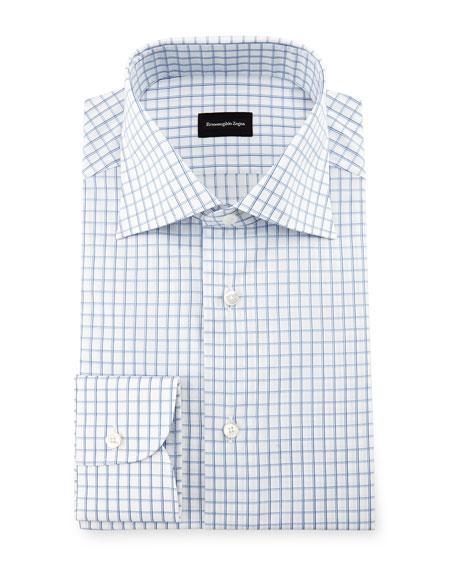 Double-Box Check Dress Shirt