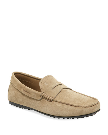 Tod's Men's Slip-On Suede Penny Drivers