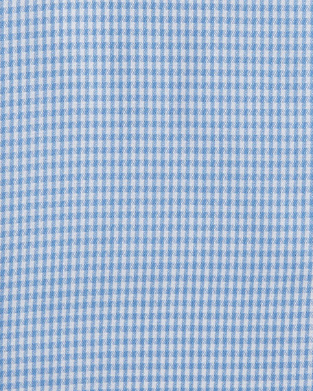 Mini-Houndstooth Twill Dress Shirt, Royal/White