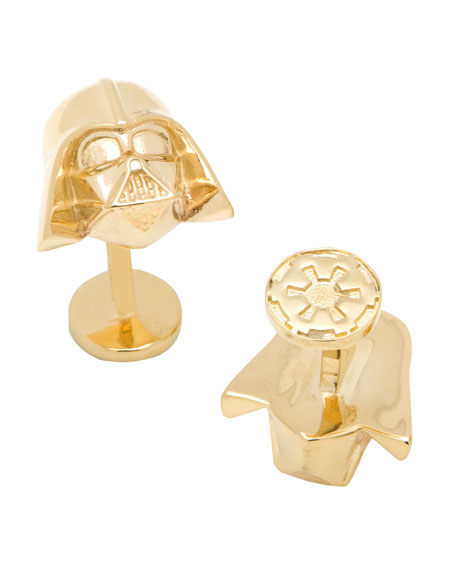 Cufflinks Inc. Darth Vader 14k Gold Star Wars