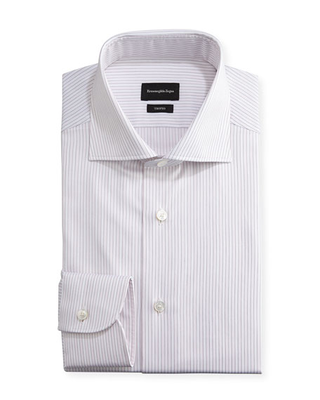 Trofeo® Striped Dress Shirt, Pink/White