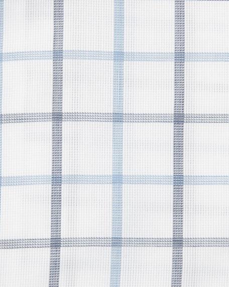 Box-Check Dress Shirt, White/Navy/Blue