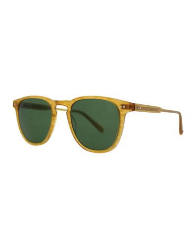 Brooks 47 Square Polarized Sunglasses  Butterscotch