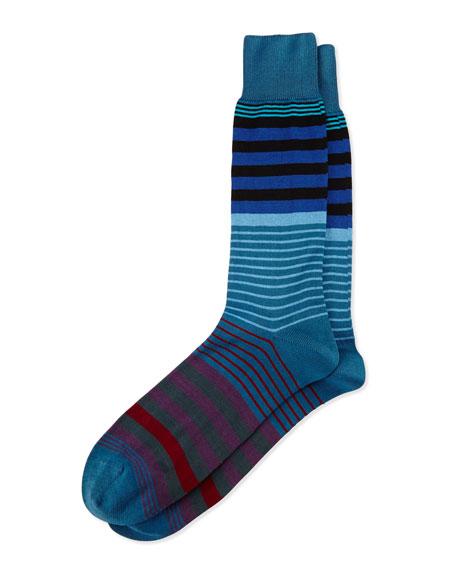 New Woven Striped Socks