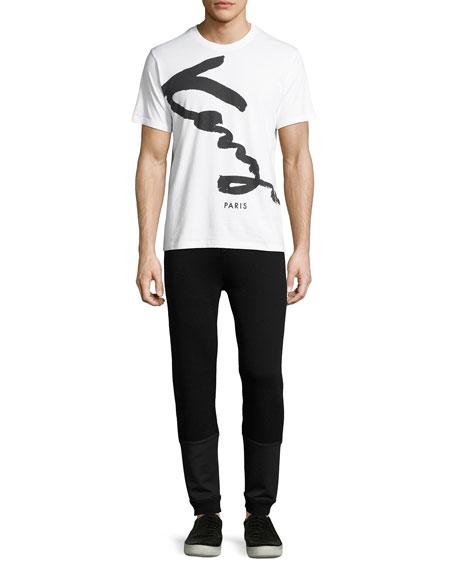 Logo-Print Jogger Pants, Black