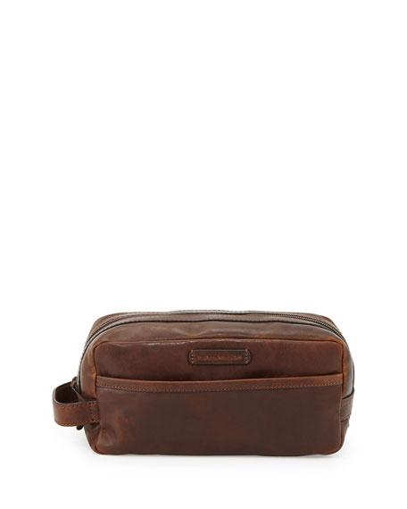 Logan Leather Travel Kit, Dark Brown