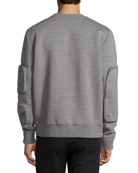 Neoprene Pocket Sweatshirt, Gray