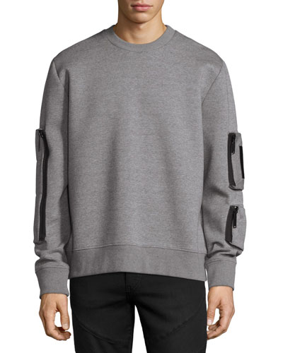 Neoprene Pocket Sweatshirt  Gray