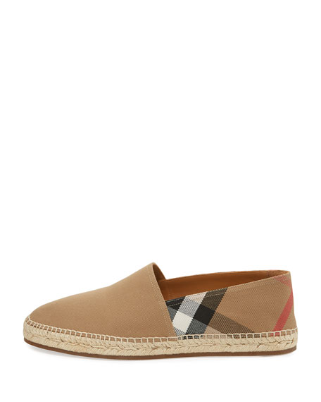 Men's Pateman Canvas Check Espadrille, Classic Check