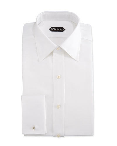 Classic French-Cuff Slim-Fit Dress Shirt  White