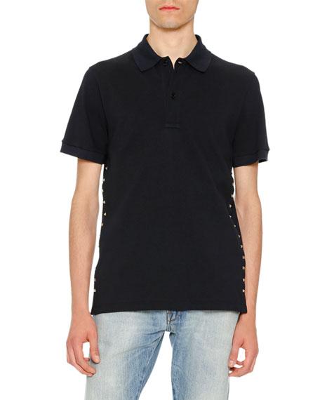 fba65fe6 Valentino Rockstud Polo Shirt, Navy
