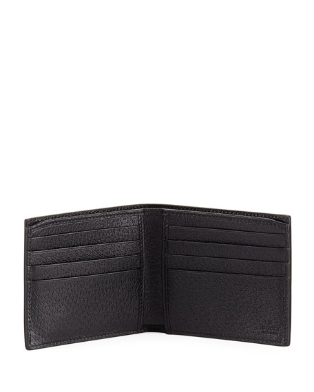 Leather GG Corner Wallet