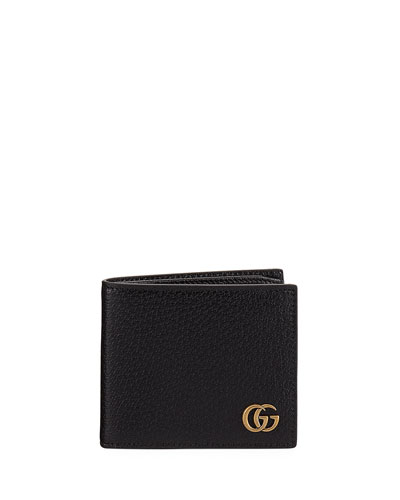 Leather GG Corner Wallet