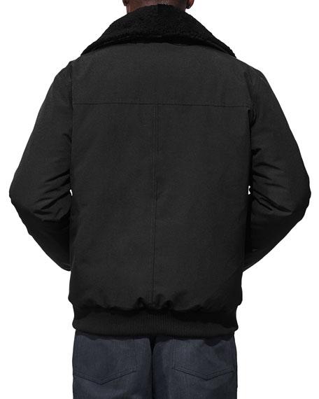 Men's Bromley Shearling-Collar Bomber Jacket