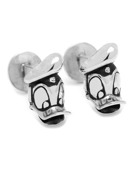Duck Head Silver Cuff Links