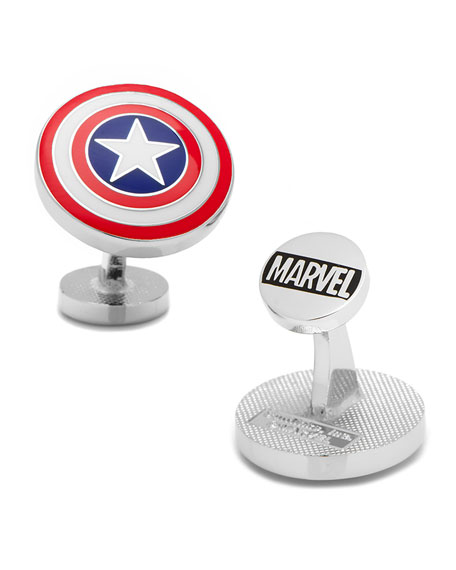Cufflinks Inc. Captain American Shield Cuff Links