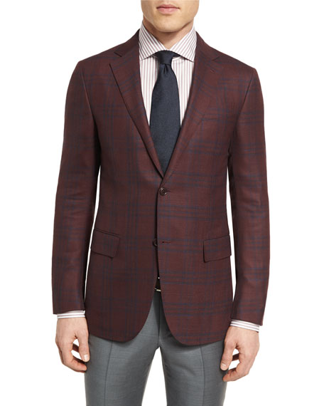 Ermenegildo Zegna Cool Effect Plaid Two-Button Sport Coat,