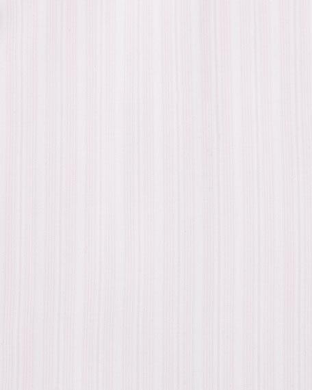 100Fili Striped Dress Shirt, Pink/White