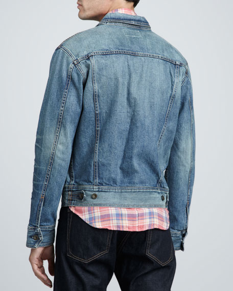 Medium-Wash Denim Jacket