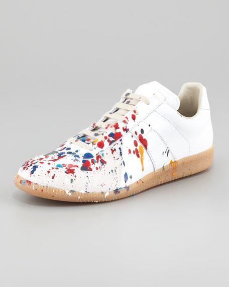 Maison Martin Margiela Paint Splatter Sneakers Red