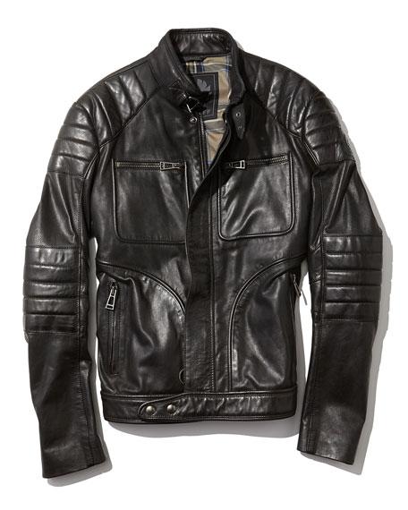 Weybridge Hand-waxed Leather Bomber Jacket