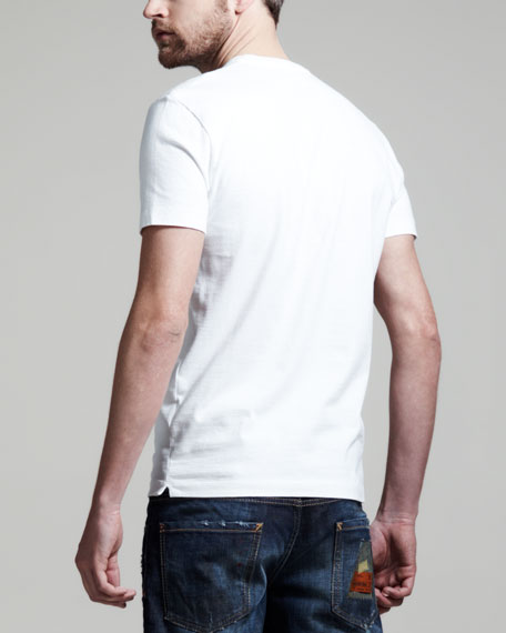 Relaxed Fit Short-Sleeve Tee, White