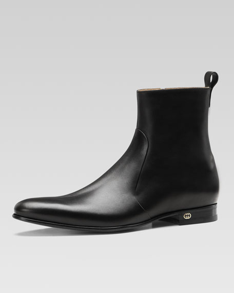 Faramir Leather Boot, Black