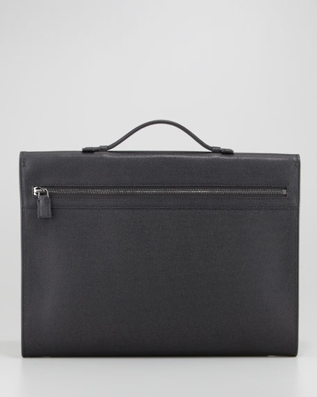 Small Briefcase with Horn Closure