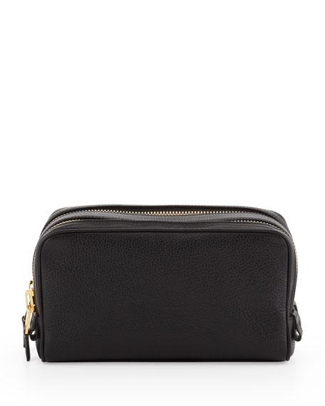 Double-Zip Toiletry Bag, Black