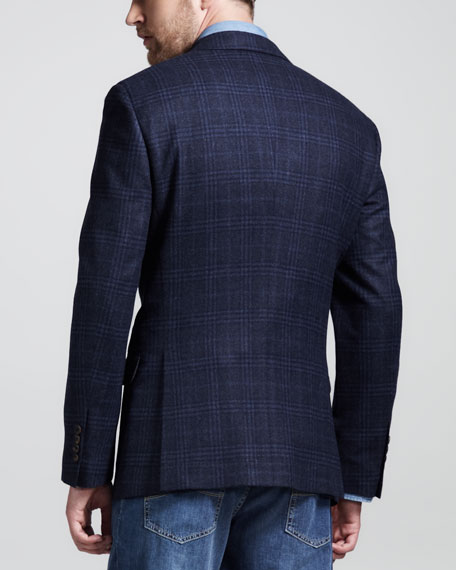 Two-Button Glen Plaid Jacket