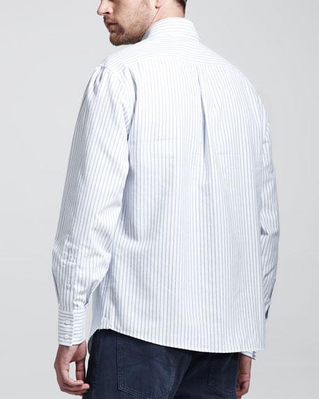 Striped Oxford Button-Down Shirt