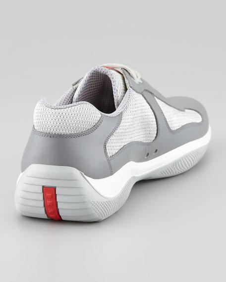 Nevada Leather Sneaker, Grey