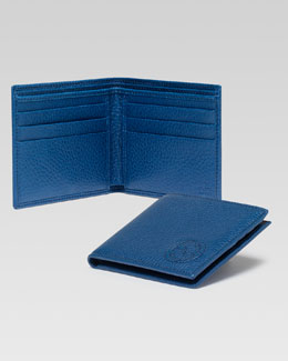 Gucci Soho Leather Bi-Fold Wallet, Blue