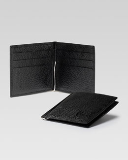 Gucci Soho Leather Money-Clip Wallet, Black