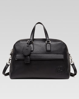 Gucci Soho Leather Carry-On Duffel Bag, Black