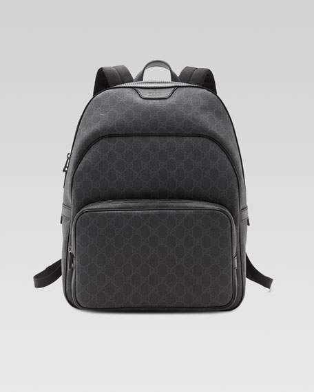 a84d85698a41 Gucci GG Supreme Canvas Backpack, Black