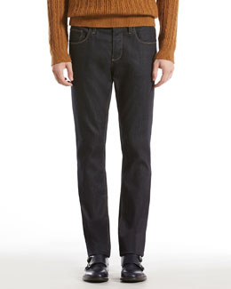 GUCCI Softened Stretch Denim Skinny Jeans