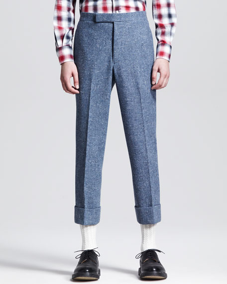Donegal Backstrap Trousers, Blue
