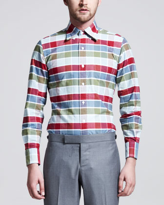 Buffalo Check Oxford Shirt, Multi