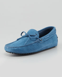 Tod's Suede Tie Driver, Blue