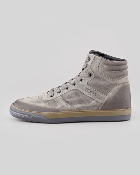 High Sneaker Top Gray Suede rshdCtQ